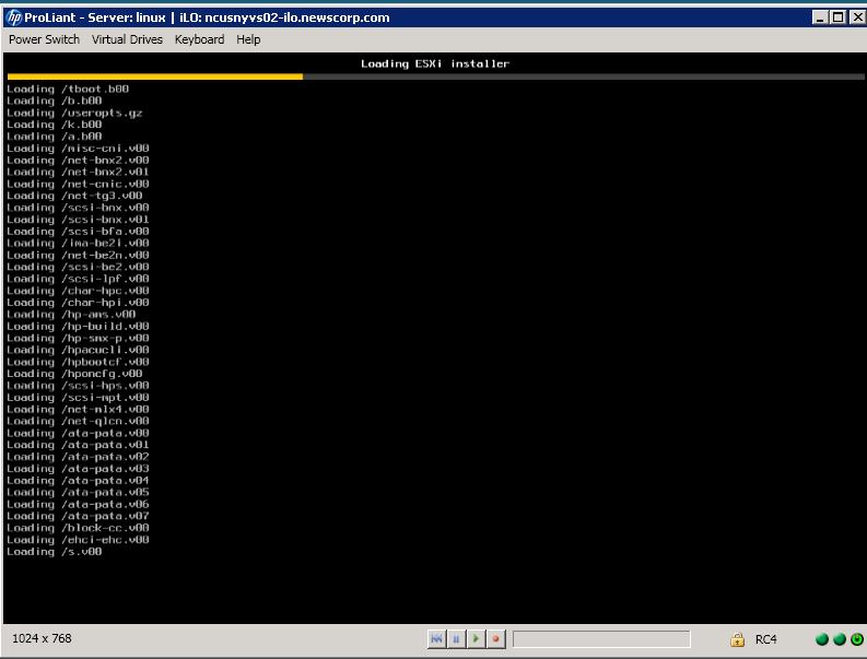 Installing ESXi 5 U1 on an HP DL360 Gen 8 via ILO | Pipe2Text com
